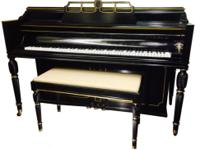 This piano has a great sound and matching bench. The
