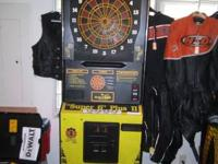 For sale is an arcade-style dartboard game, fully