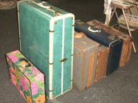 We have a selection of vintage luggages with the