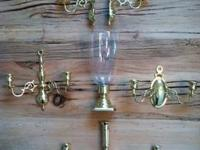 Classic Baldwin Forged Brass Set including: one Candle