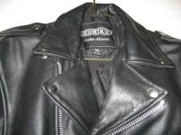 Leather motorcycle jacket in excellent condition. Only