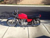 1978 Suzuki GS 750 . Cafe racer style. Pod air filters