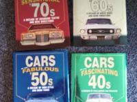 I have 4 collectible vintage car books for sale. These