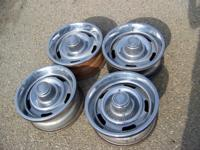 CLASSIC CHEVY 15X6 SS RALLEY RIMS WHEELS  ORIGINAL