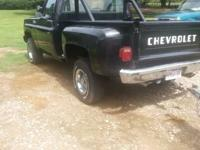 The truck is a Chevy 4x4 stepside all original with
