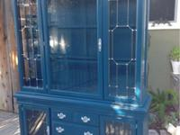 Lovely vintage China cabinet done in Benjamin Moore