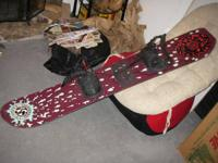 FOR SALE:. A traditional Colorado Snowboards 163cm for
