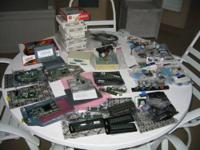 Large assortment of working surplus computer parts for
