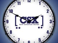 Type: DecorType: ClocksFeaturing the CSX railroad Logo,