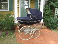 Classic English Silver Cross Pram in very good