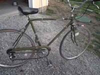 nice classic raleigh bike with 5 spd, has good tires