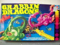Grabbin Dragons Game: 1982 Hasbro game. Contains: tray,