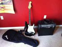 Classic Fender Squier Strat guitar for sale. Throwing