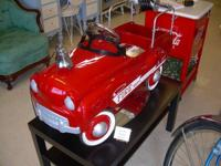 Timeless Restored Gear Box Fire Truck Pedal Car