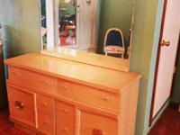 1) Low kid chest of drawers w / tiltable mirror: $250;