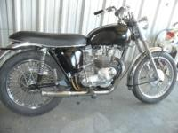 1968 TRIUMP MOTORCYCLE, OVER $2000..IN EXTRA CHROME PUT