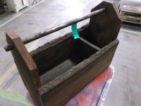 Vintage Oak Tool Box. Rustic and attractive! Could be