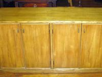 Strong timber cupboard with shelves inside, excellent