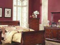 king sleigh matching,two nightstands,dresser,mounted
