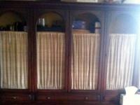 Classic Solid Mahogany Hutch and Matching Credenza