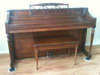 Exceptional condition, Story and Clark Spinet Piano.