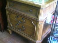 "Vintage Solid Wood 3 Drawer Nightstand $29. 27""H x 25""W"