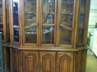 Classic Solid Timber Beveled Glass China Cabinet $199.