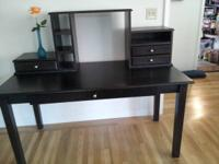 Classic style one drawer desk, three drawer & three