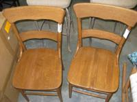 "Vintage Wood Chair - 4. 17""w - 1920's - Amount: 2 -"