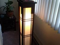 Beautiful, tall Chinese lantern style floor lamp that