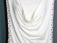 Classy Blouse Venus Cream Color Drape Style With