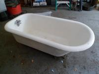 Clawfoot tub for sale Has a bit of rust near the