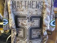 Clay Matthews Camo NFL Approved USMC Jersey Very