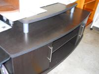 "Clayton TV Stand, Mutiple Finishes fits up to 60"" We"