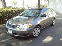 I'm offering my 2007 4 Door Toyota Corolla CE that has