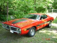 1973 Dodge Charger Ralley package red. 400 mangun 727