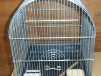 Clean bird cages-- wire with plastic bottoms and trays,