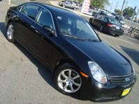 2006 INFINITI G35X, CLEAN CARFAX, LEATHER, POWER