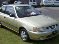 2001 HYUNDAI ACCENT STANDARD TRANSMISSION COLOR: TAN