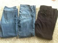 Jeans: size 10 Long and lean $5            Size 12/31L