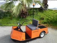 $100..ORANGE electric GOLF CART 3 prong ...3 wheeler No