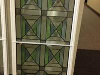 We have an ornamental front door glass insert for sale.