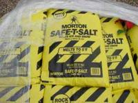 We are selling Morton rock salt in 50lb bags by the