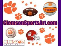 Clemson Christmas Gifts Sports Art Football Champions