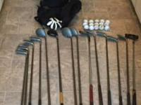 Large set including bag of balls, 2 driver covers