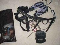 Small harness and gear, 7 or 5.10 shoe barely used