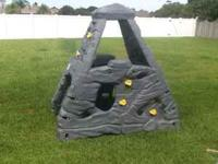 Tough but forgiving plastic climbing wall for kids 3