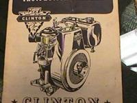 Clinton Engine Motor Manual Maquoketa Iowa Good