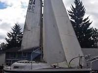1977 Clipper Marine 23 Poptop sailboat && amp; trailer