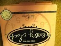 Brandnew memory clock. Scrapbook the inside and have a